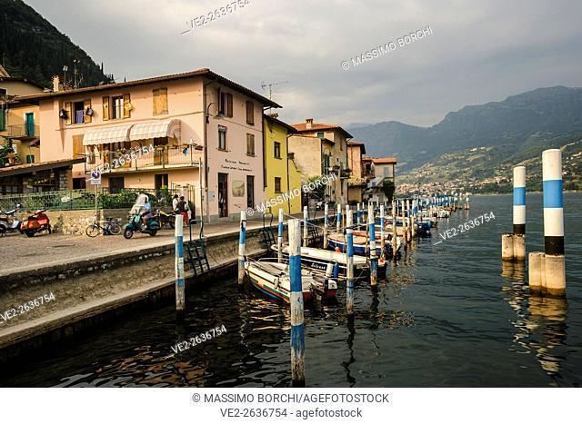 Italy, Lombardia (Lombardy), Monte Isola . Lago (lake) d'Iseo - Peschiera Maraglio. The village
