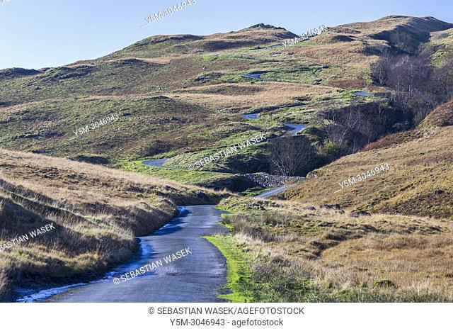 Hardknott Pass, Lake District National Park, Cumbria, England, United Kingdom, Europe