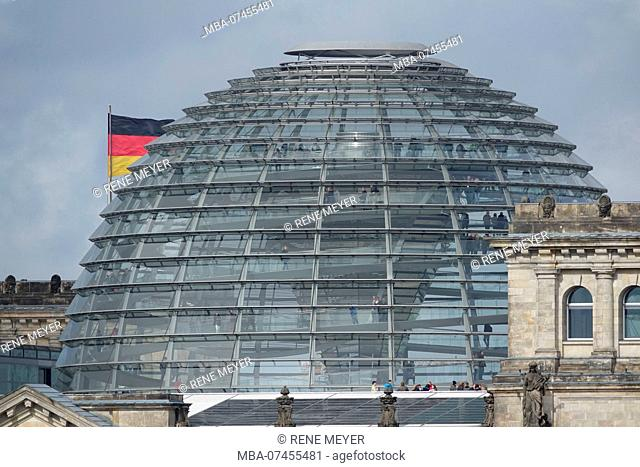 Germany, Berlin, Reichstag, glass dome, architect Sir Norman Foster
