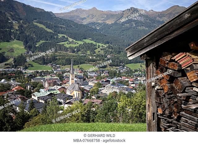 View on Bad Hofgastein in Gasteinertal, Salzburg, Austria