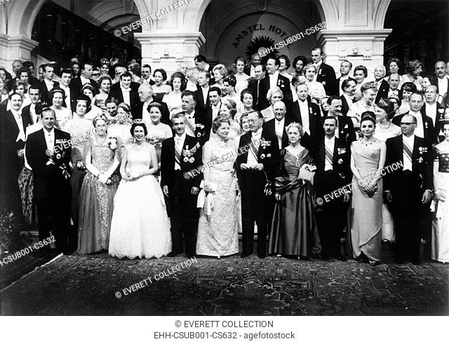 World wide royalty celebrate the silver wedding anniversary Queen Juliana and Prince Bernhard. At the Hague, Netherland, May 1, 1962