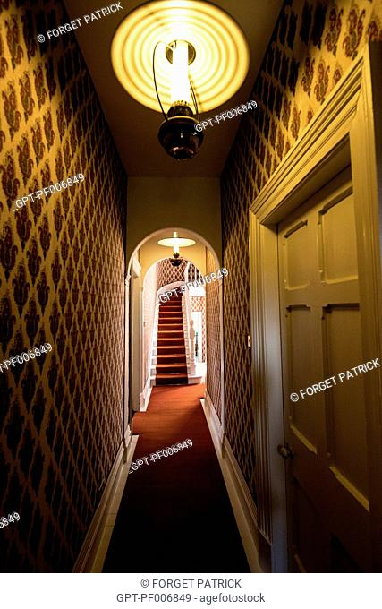 HALLWAY LEADING TO THE CASTLE'S UPPER FLOORS, GLENVEAGH NATIONAL PARK, COUNTY DONEGAL, IRELAND