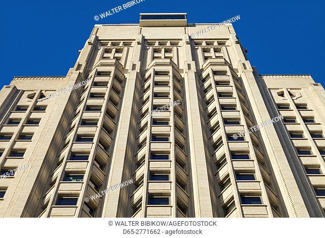 Belgium, Antwerp, KBC Tower or Boerentoren, art-deco skyscraper built in 1932