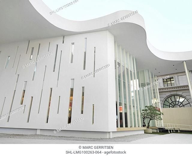 Exterior modern white building
