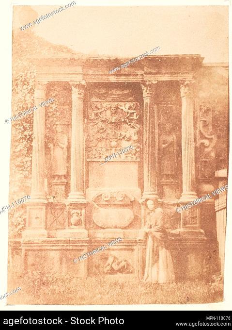 Edinburgh. Greyfriars' Churchyard. Photography Studio: Hill and Adamson (British, active 1843-1848); Artist: David Octavius Hill (British, Perth