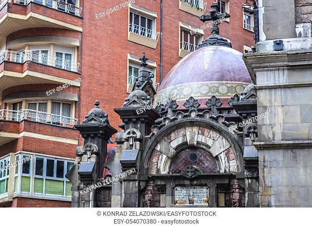 Details of Basilica of Saint John The Real Oviedo in Asturias region, Spain