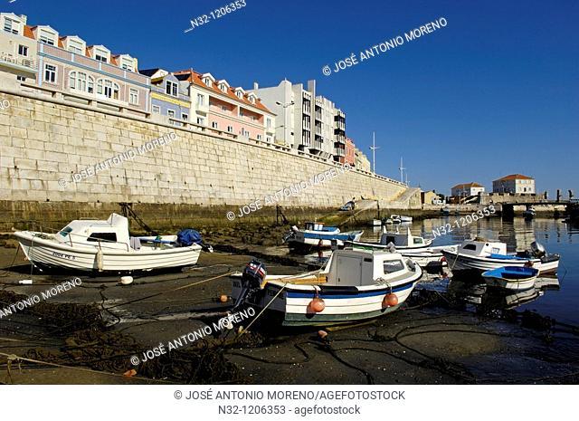 Peniche  fishing boats  Leiria district  Atlantic Coast  Estremadura  Portugal  Europe
