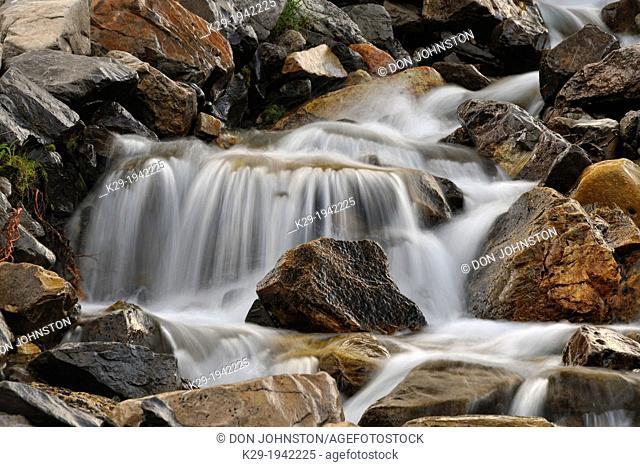 Mountain cascade near Highwood Pass, Peter Lougheed Provincial Park, Alberta, Canada