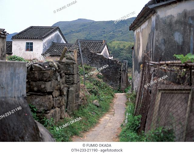Village Houses in Wu Kau Tang, New Territory, Hong Kong