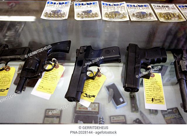 Gun store in Jamestown, former American gold-rush town
