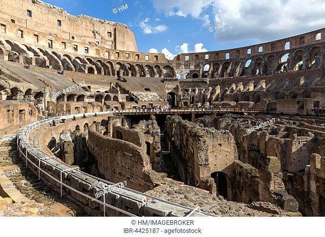Colosseum interior, Rome, Lazio, Italy