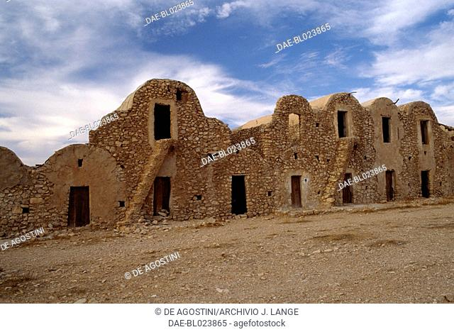 Ghorfas in the Ksar El Ferech, Tataouine Governorate, Tunisia
