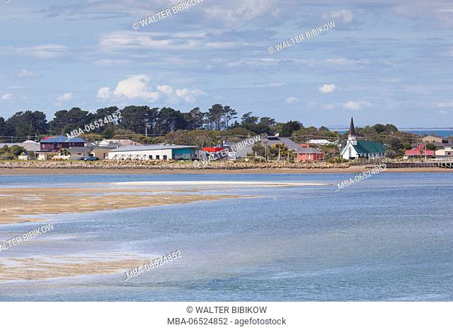 New Zealand, South Island, Southland, Riverton, town view