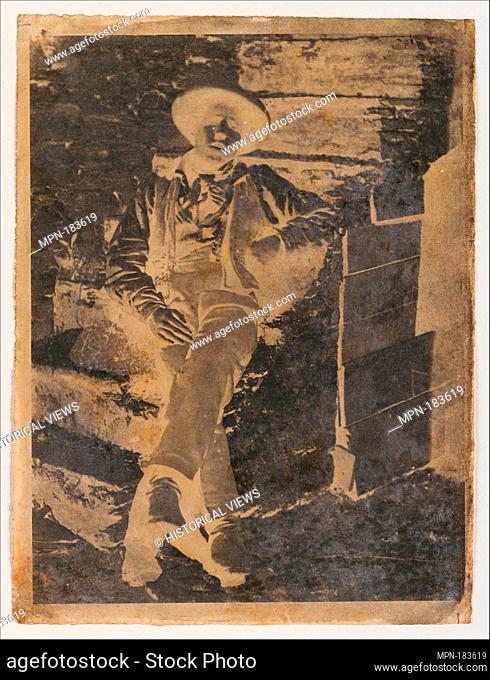 [Young Man]. Artist: Calvert Richard Jones (British, Swansea, Wales 1802-1877 Bath, England); Date: late 1840s; Medium: Paper negative; Dimensions: 20