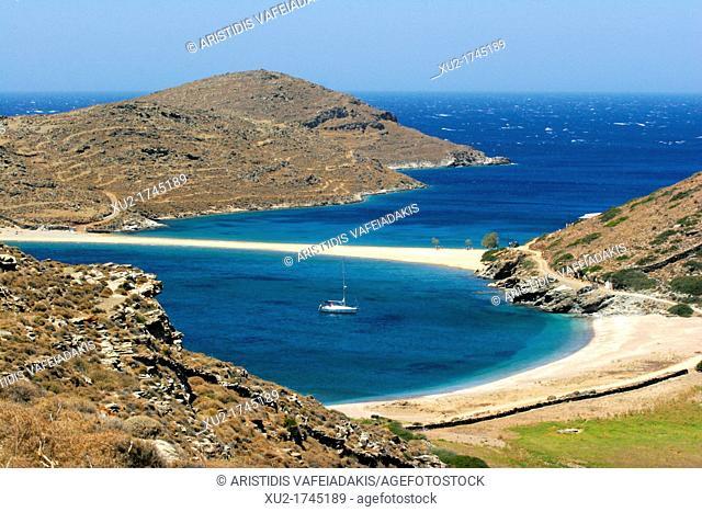Kolona beach in Kythnos island Cyclades Greece