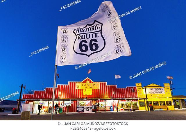 Seligman, U.S. Route 66 (US 66 or Route 66), Arizona, USA, América