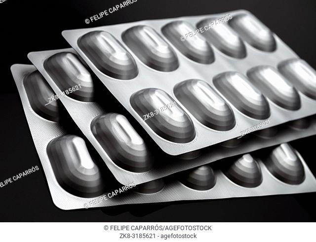 Many Medicines Pills Capsules Of Diferent Size