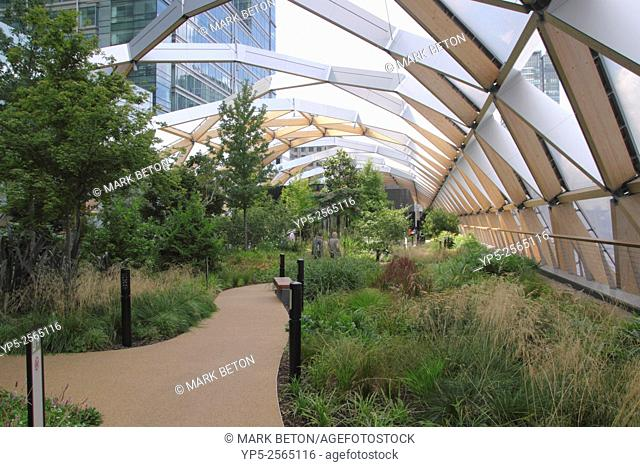 Crossrail Place Roof Garden Canary Wharf Docklands London