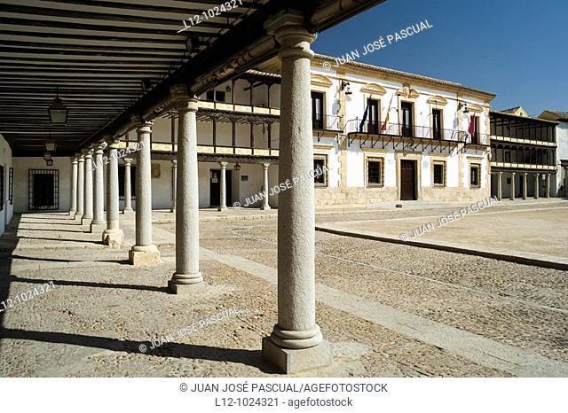 Main Square, Tembleque, Toledo Province, Castilla la Mancha, Spain