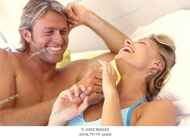 View of a woman sharing a romantic moment with her boyfriend