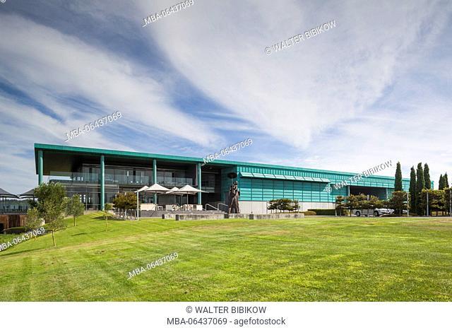New Zealand, North Island, Hawkes Bay, Te Awanga, Elephant Hill Winery, exterior