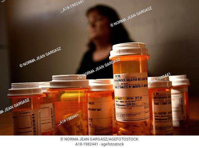 Medications taken by a chronically ill patient, including Depakote