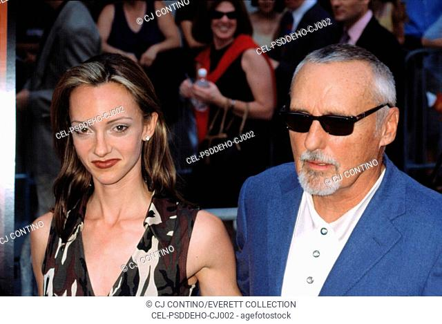 Dennis Hopper and his wife Victoria at the Apocalypse Now Redux Premiere, NYC, 7/23/2001, by CJ Contino