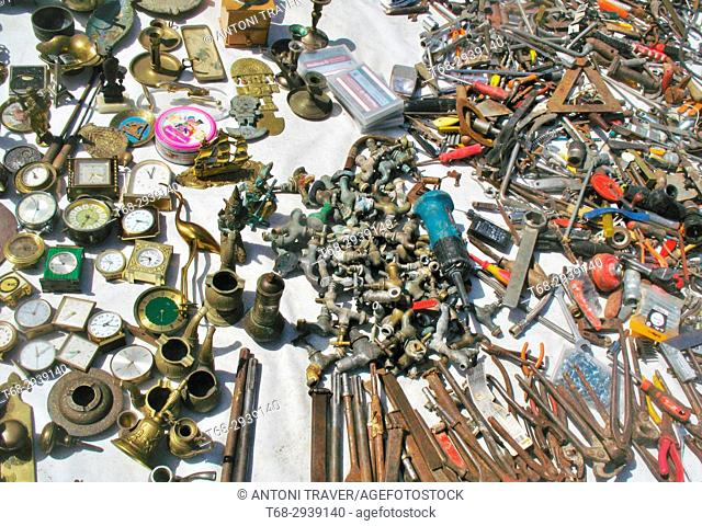 Metal objects in a market, Les Borges Blanques, Lleida