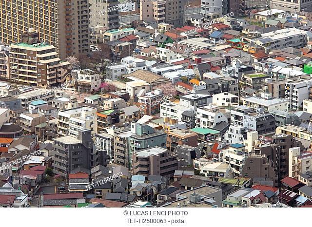 Rooftops in Tokyo Japan