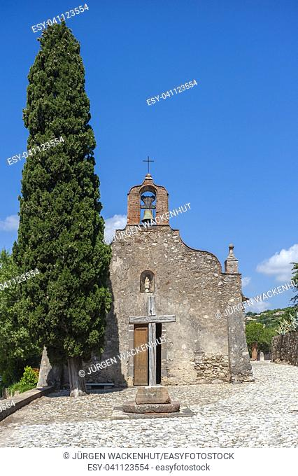 Chapel Chapelle des Penitents, Grimaud-Village, Var, Provence-Alpes-Cote d`Azur, France, Europe