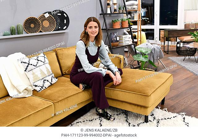 """Model Eva Padberg presents her new """"""""Collection by Ce'Nou & Home24"""""""" in Berlin, Germany, 23 November 2017. It is the second interior collection which she has..."""