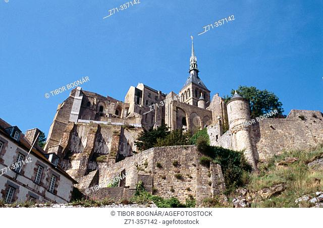 Benedictine abbey. Mont-Saint-Michel. Normandy, France