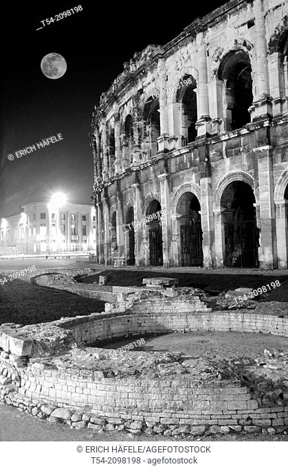 The Roman Arena in Nimes / France