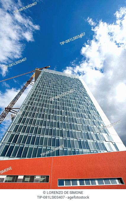 Italy, Lombardy, Milan, Isola district, Garibaldi Tower construction site
