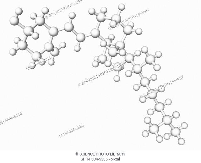 Vitamin D, molecular model