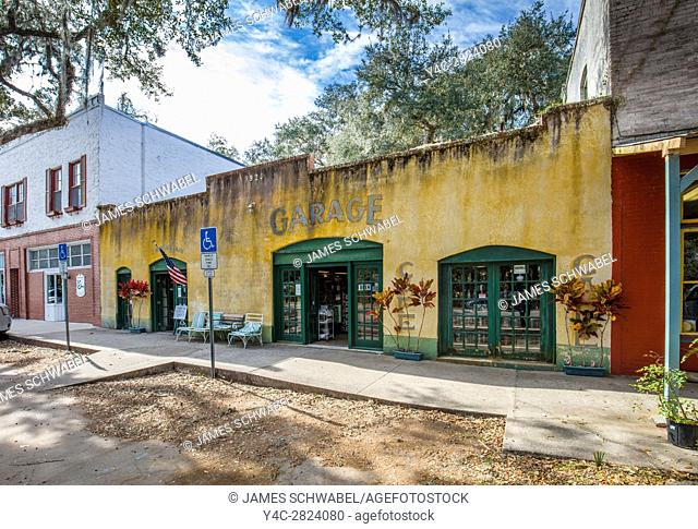 Cholokka Boulevard in Micanopy in Alachua County. Florida's self-proclaimed antiques capital. Named in honor of a Seminole Indian chief and settled in 1821