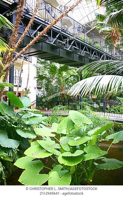 The botanical garden style Gaylord Opryland hotel resort in Nashville TN, USA