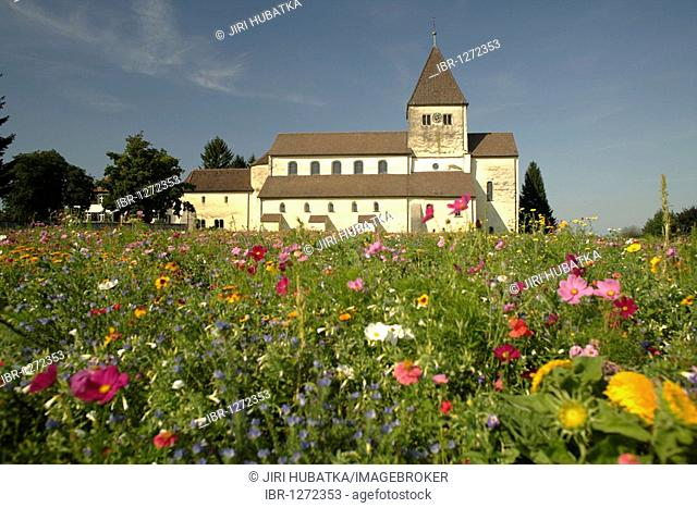 Basilica of St. George, a late Carolingian and Ottonian building in Oberzell, Isle of Reichenau, Lake Constance, Konstanz district, Baden-Wuerttemberg, Germany
