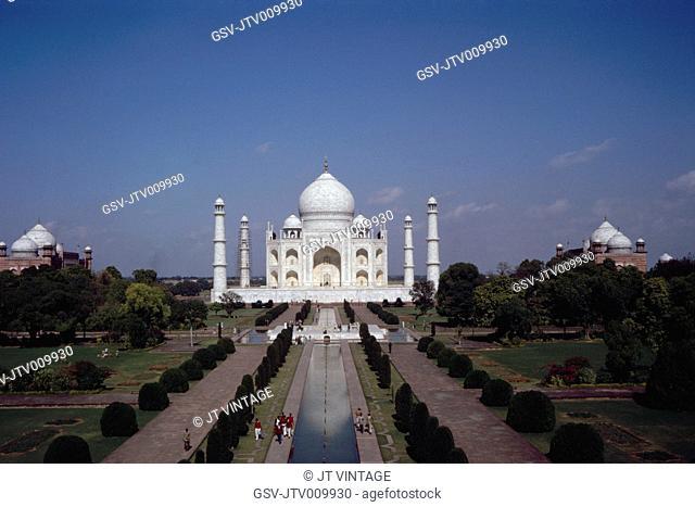 Taj Mahal and Reflecting Pool, Agra, India, 1962