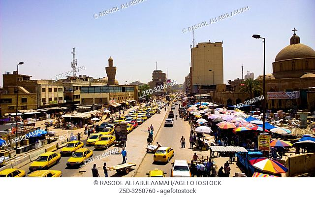 Baghdad, Iraq – May 4, 2014: is a marketplace in Baghdad. Located near Bab Al Sharqi market, Shorja is Baghdad's largest and oldest market
