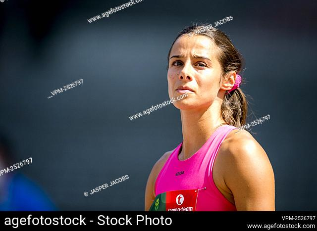Belgian Camille Laus pictured in action during the 400m race at the 'Brussels Grand Prix' athletics meeting, in Brussels, Sunday 09 August 2020