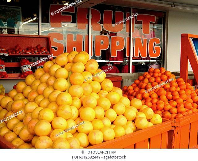 Orlando, FL, Florida, Kissimmee, Orange World, fruit stand, grapefruit, oranges