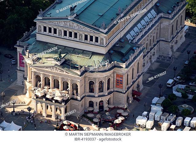 Alte Oper opera house, view from the Main Tower, Frankfurt am Main, Hessen, Deutschland