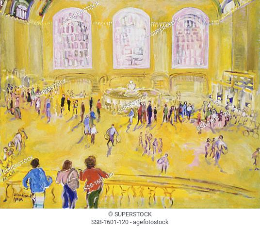 Grand Central, 1 P.M., 2001, Richard H. Fox (b.1960/American), Oil on Canvas
