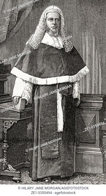 """Henry Charles Lopes, 1st Baron Ludlow, 1828 â. """"1899. British judge and Conservative Party politician. From The Strand Magazine, published January to June, 1894"""