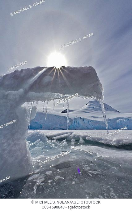 Ice formation detail in Antarctica, Southern Ocean