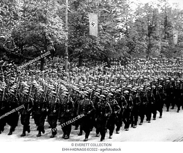 Nazi Germany, German troops parading, c. 1939