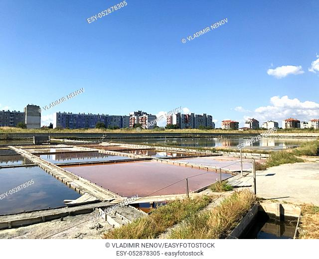Pomorie, Bulgaria - September 06, 2019: Lake Pomorie Is The Northernmost Of The Coastal Burgas Lakes, Located In The Immediate Proximity Of The Black Sea And...