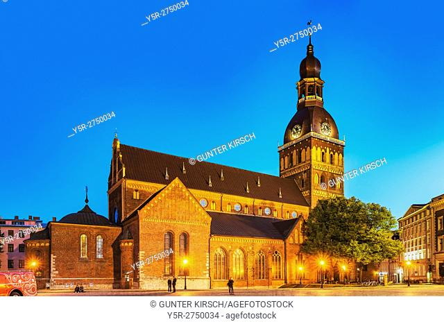The Riga Cathedral (Rigas Doms) is the largest Baltic church. The church was completed in 1226, Riga, Latvia, Baltic States, Europe