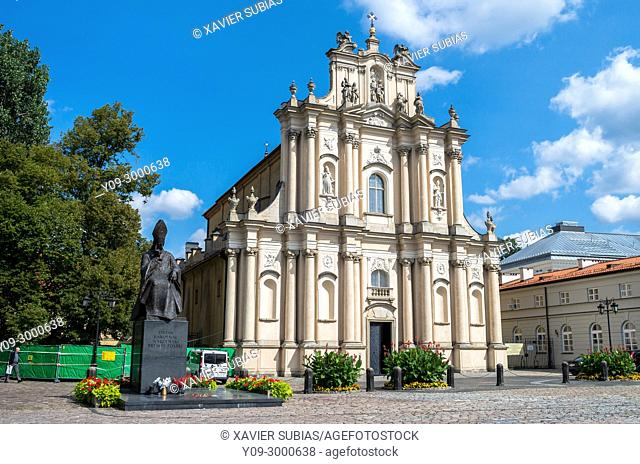 Church of the Care of St. Joseph and Monument, Cardinal Stefan Wyszynski, Warsaw, Poland